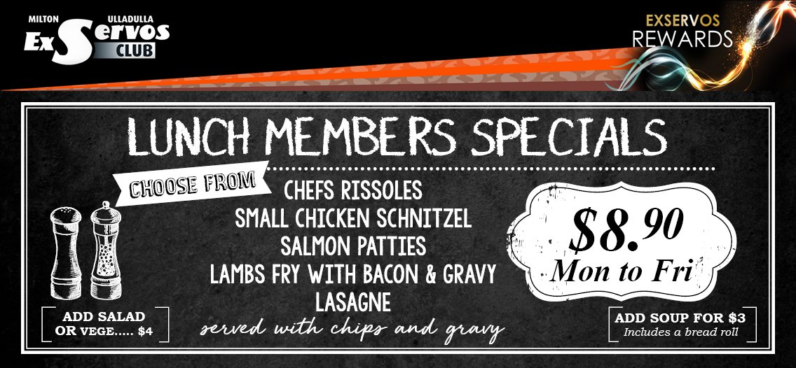 Southside Lunch Member Specials