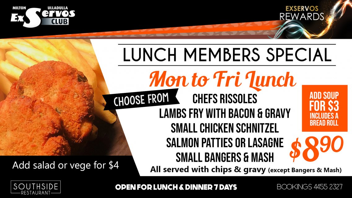 Monday to Friday Lunch Special
