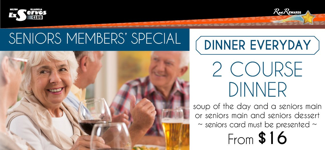 Dinner - Soup and Seniors Main
