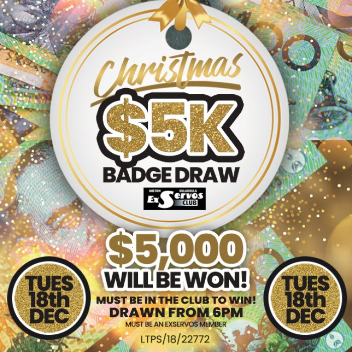 $5K Xmas Badge Draw